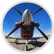 Beechcraft T-6a Texan II  Round Beach Towel