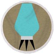 Beehive Lamp Turquoise Round Beach Towel