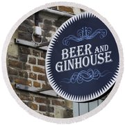 Beer And Ginhouse Round Beach Towel