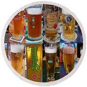 Beers Of Europe Round Beach Towel