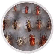 Beetles - The Usual Suspects  Round Beach Towel by Mike Savad