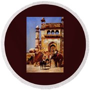 Before A Mosque 1883 Round Beach Towel