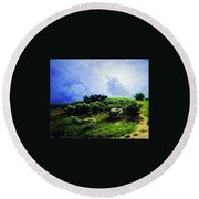 Before A Thunderstorm1869 Round Beach Towel