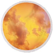 Before The Storm Clouds Stratocumulus 10 Round Beach Towel
