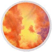 Before The Storm Clouds Stratocumulus 2 Round Beach Towel