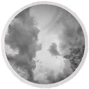 Before The Storm Clouds Stratocumulus 3 Round Beach Towel