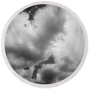 Before The Storm Clouds Stratocumulus 5 Bw  Round Beach Towel