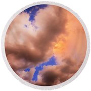 Before The Storm Clouds Stratocumulus 5  Round Beach Towel