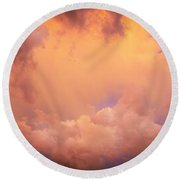 Before The Storm Clouds Stratocumulus 7 Round Beach Towel
