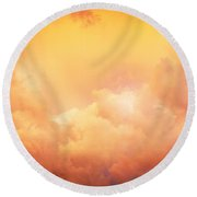 Before The Storm Clouds Stratocumulus 8 Round Beach Towel