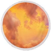 Before The Storm Clouds Stratocumulus 9 Round Beach Towel
