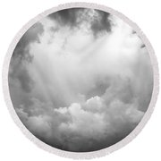 Before The Storm Clouds Stratocumulus Bw 7 Round Beach Towel