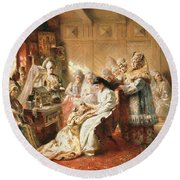 Before The Wedding, 1890 Oil On Canvas Round Beach Towel