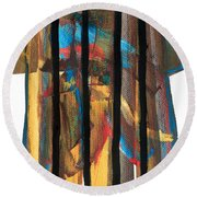 Behind Bars Round Beach Towel