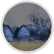 Behind The Barn Round Beach Towel