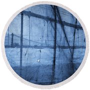 Behind The Veil - New York City Round Beach Towel