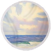 Behold The Glory Round Beach Towel