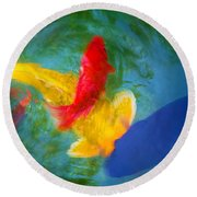 Being Koi Too Round Beach Towel