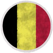 Belgium Flag Round Beach Towel