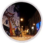 Belgium Street Art Round Beach Towel by Juli Scalzi