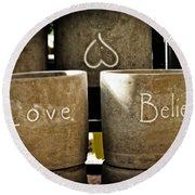 Believe In Love - Photography By William Patrick And Sharon Cummings Round Beach Towel