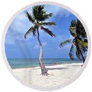 Beautiful Belize Palms Round Beach Towel