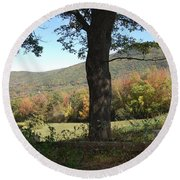 Belknap Mountain Round Beach Towel