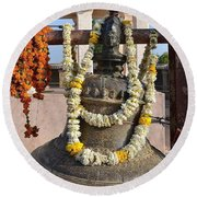 Bell At The Temple Of The 64 Yoginis - Jabalpur India Round Beach Towel