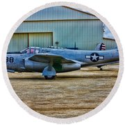 Bell P-59 Airacomet Round Beach Towel