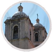 Bell Towers Round Beach Towel