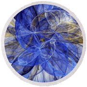 Bella Blue Round Beach Towel