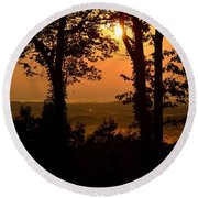 Bella Vista Sunset 2 Round Beach Towel