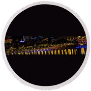 Bellagio Lagoon Walkway Round Beach Towel