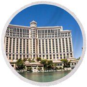 Bellagio Resort And Casino Panoramic Round Beach Towel