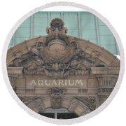 Belle Isle Aquarium Entrance 1 Round Beach Towel