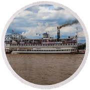 Belle Of Louisville Round Beach Towel