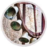 Bells In Sicily Round Beach Towel by David Smith