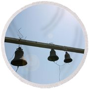 Bells In The Morning  Round Beach Towel