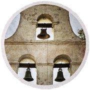 Bells Of Mission San Diego Round Beach Towel