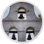 Bells Of Mission San Diego Too Round Beach Towel