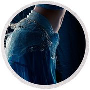Belly Dance Color Round Beach Towel