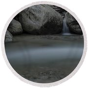 Below The Falls Round Beach Towel