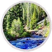 Belt Creek Round Beach Towel