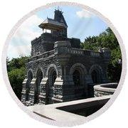 Belvedere Castle - Central Park Round Beach Towel