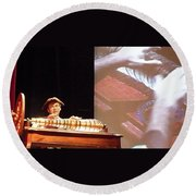 Ben Franklin Glass Harmonica Round Beach Towel