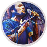 Ben Harper And Mic Round Beach Towel