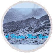 Ben Nevis Happy New Year Greeting Round Beach Towel