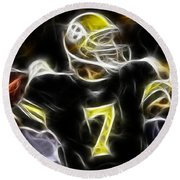 Ben Roethlisberger  - Pittsburg Steelers Round Beach Towel