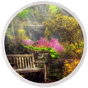 Bench - Tranquility II Round Beach Towel