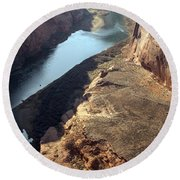 Bend In The Colorado River Round Beach Towel